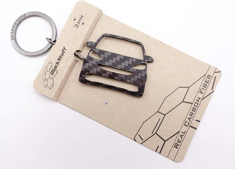 Blackstuff Carbon Karbonfaser Schlüsselanhänger Kompatibel Mit Fortwo Mk2 2007 2014 Bs 116 Auto