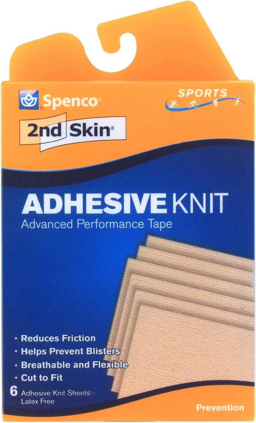 Spenco 2nd Skin Adhesive Knit Blister Protection, Sports, 6 Count