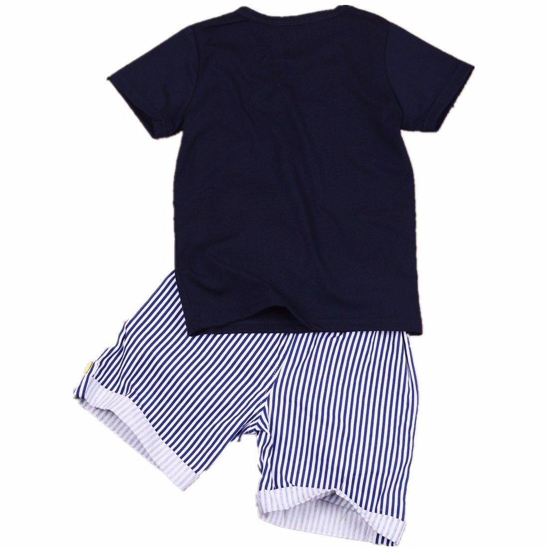 YiZYiF Conjunto Ropa Niños Camiseta de Manga Corta Pantalones Cortas Rayadas 2PCS Traje De Verano Playa para niños: Amazon.es: Ropa y accesorios