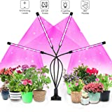 LED Grow Light for Indoor Plants, 4WDKING 40W Full Spectrum Plant Growing Lamps with Auto ON/Off Timer 10 Level Brightness 3 Switch Red/Blue Modes