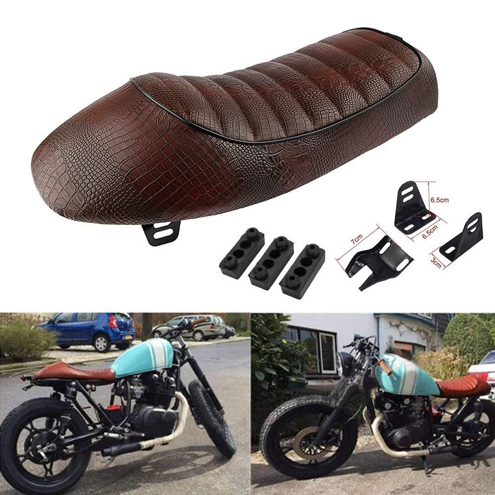 7 Motorcycle Vintage Cafe Racer Saddle Seat For KZ400 KZ550 K750 Z650 W650 CB100 CB125 CB175 CB200 CB350 CB360 CB400 CB450 CB500 CB550 CB650 CB750 CG125 GN250 CL100 CL125S CL175 CL200 CL350