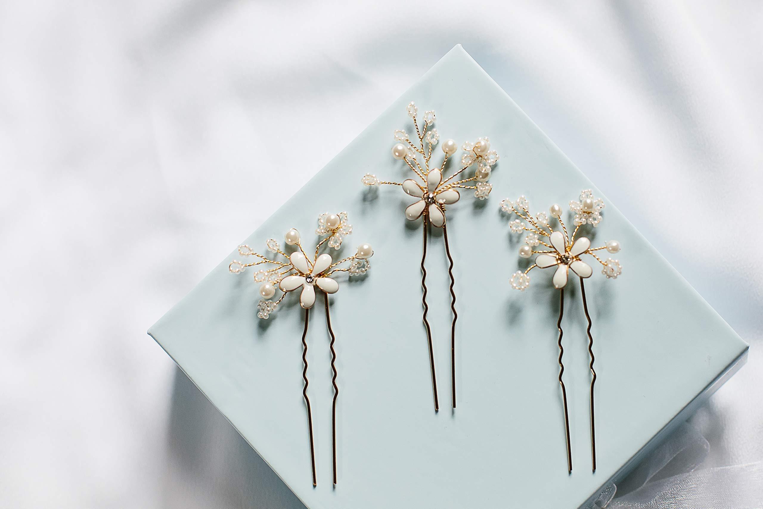 Emma - flower hair pins, bridal hair pins, boho wedding accessory, wedding hair accessory, bohemian wedding