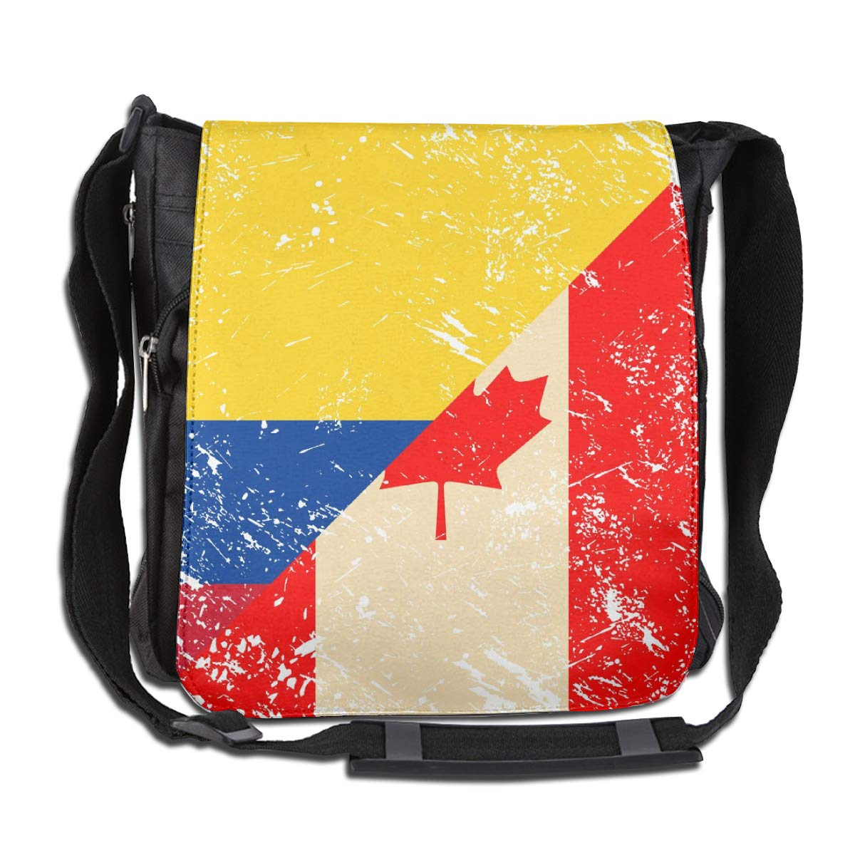 Unisex Classic Satchel Messenger Bags Canada And Columbia Retro Flag Crossbody Shoulder Bag Hiking Bags For School//Work//Trips