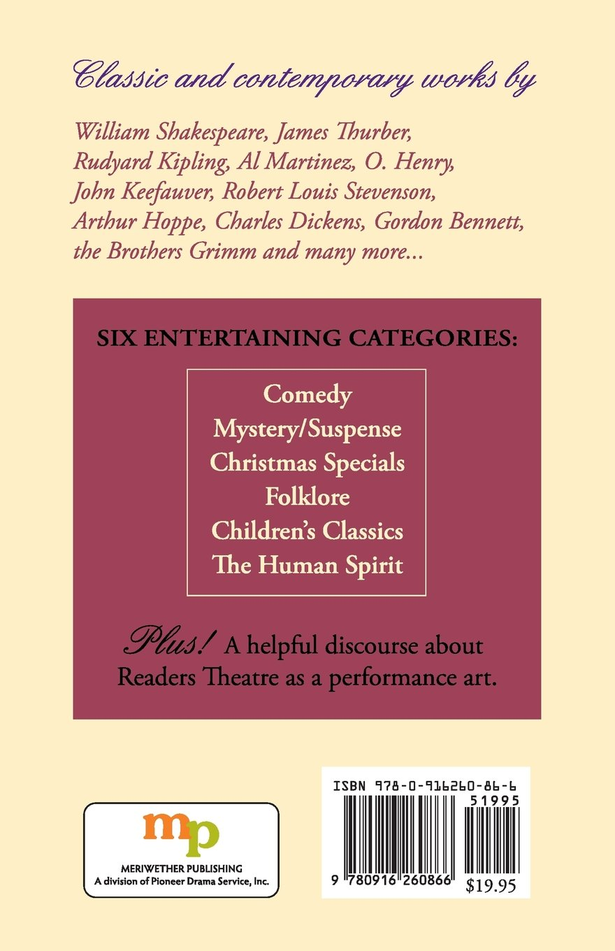 Mel White's Readers Theatre Anthology: A Collection of 28 Readings (Reader's  Theater Series): Melvin R. White: 9780916260866: Amazon.com: Books