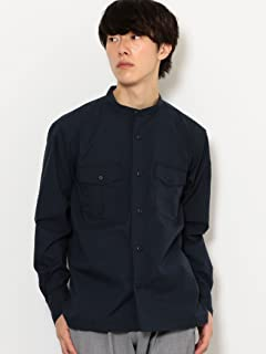 Band Collar CPO Shirt 3211-149-2413: Navy