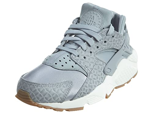 01e4752fe80e6 Nike WMNS Air Huarache Run Premium Women Lifestyle Sneakers New Wolf Grey  Wolf Grey Wolf