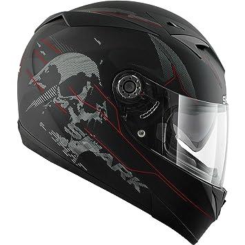 He0432ekrsm Shark S700 S Naka Mat Motorcycle Helmet M Black Krs