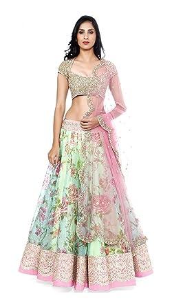 4d91a72d1b Image Unavailable. Image not available for. Colour: Krishna Fashion Online  Women's Georgette & Net Unstitched Lehenga Choli ...