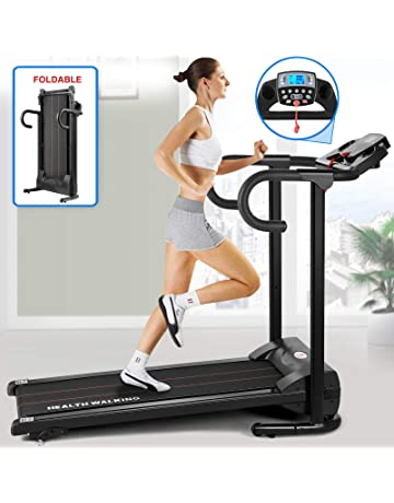 Fitnessclub Folding Electric Motorised Treadmill Walking Running Machine Adjustable Incline Fitness Exercise Cardio Jogging Speed 10.0KM/H Emergency System Low Noise Powerful Motor