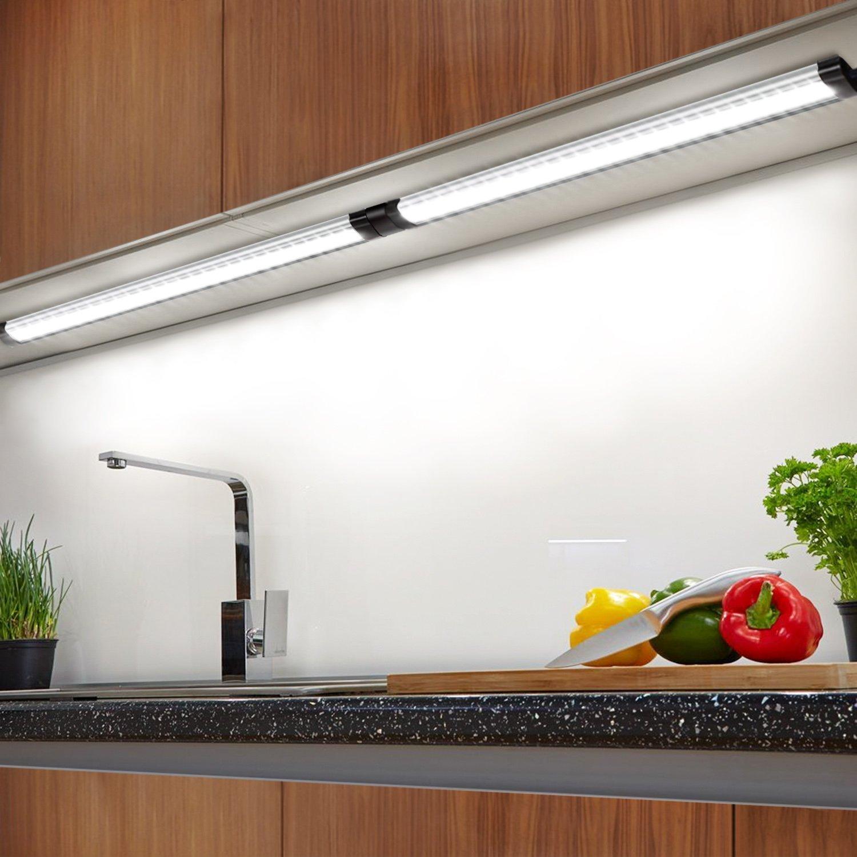 under shelf led lighting. Albrillo Under Cabinet LED Lighting, Dimmable Counter 900 Lumens, Daylight White 6000K, Pack Of 3 Shelf Led Lighting I