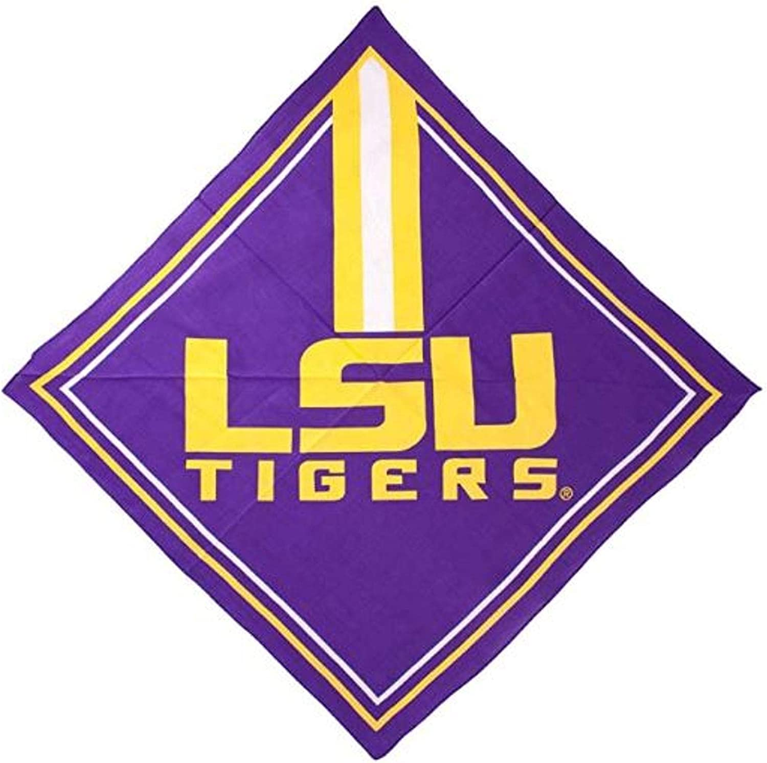 Rico Industries, Inc. LSU Tigers Bandana Lightweight Traditional Fandana Beanie Headband Ninja Louisiana State University of