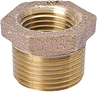 B And K Industries 455-032NL 1//2 X 3//8 Red Brass Reducer Bushing MXF