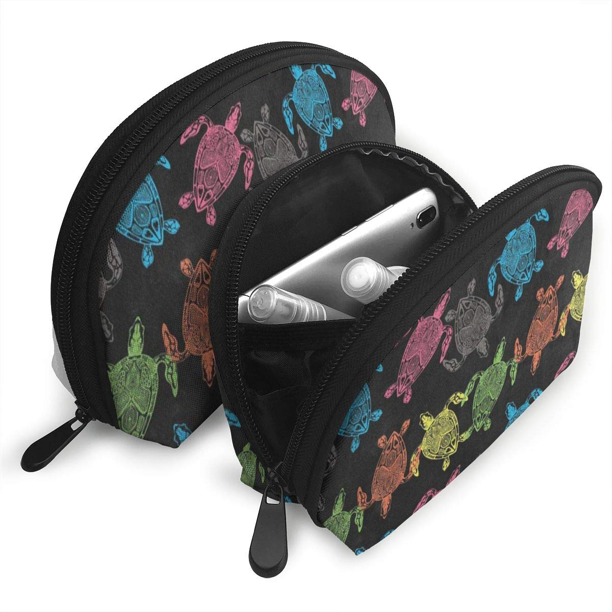 179d5215756d Amazon.com : Makeup Bag Watercolor Sea Turtle Handy Shell Travel ...
