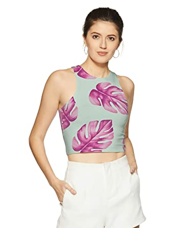 6cedfcd0fb Forever 21 Women s Floral Slim Fit Top  Amazon.in  Clothing   Accessories