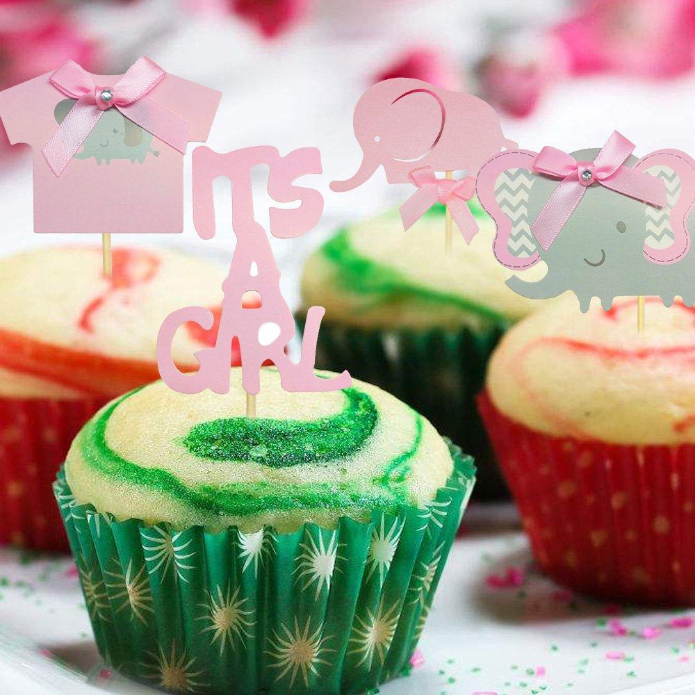 Winko lingua italiana non garantita decorazioni per torta a tema elefante It is a girl rosa