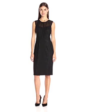 Amazon.com: Vera Wang Women&-39-s Little Black Dress with Illusion ...