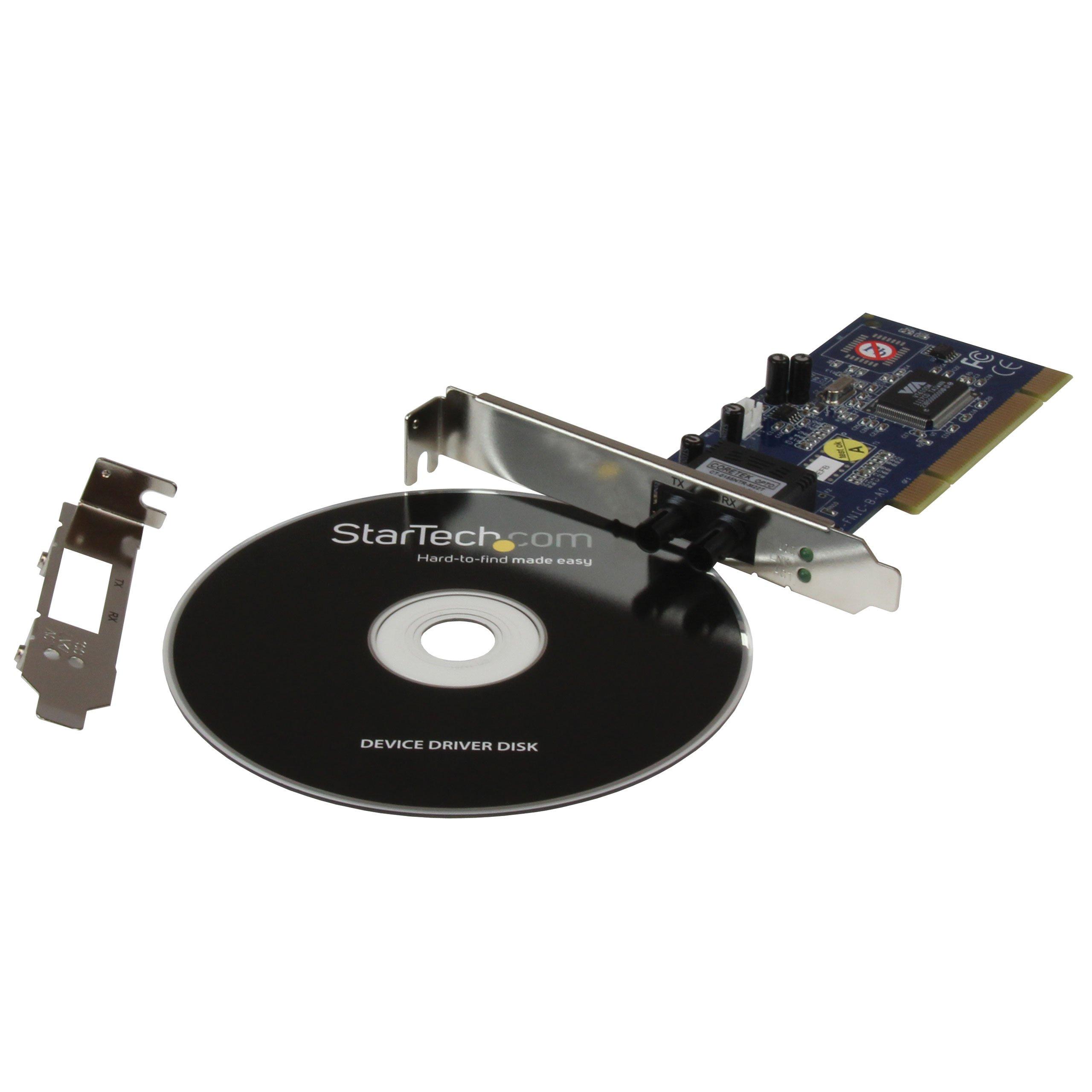 StarTech.com PCI100MMST 100Mbps PCI Multi Mode ST Fiber Ethernet NIC Network Adapter 2km by StarTech (Image #5)