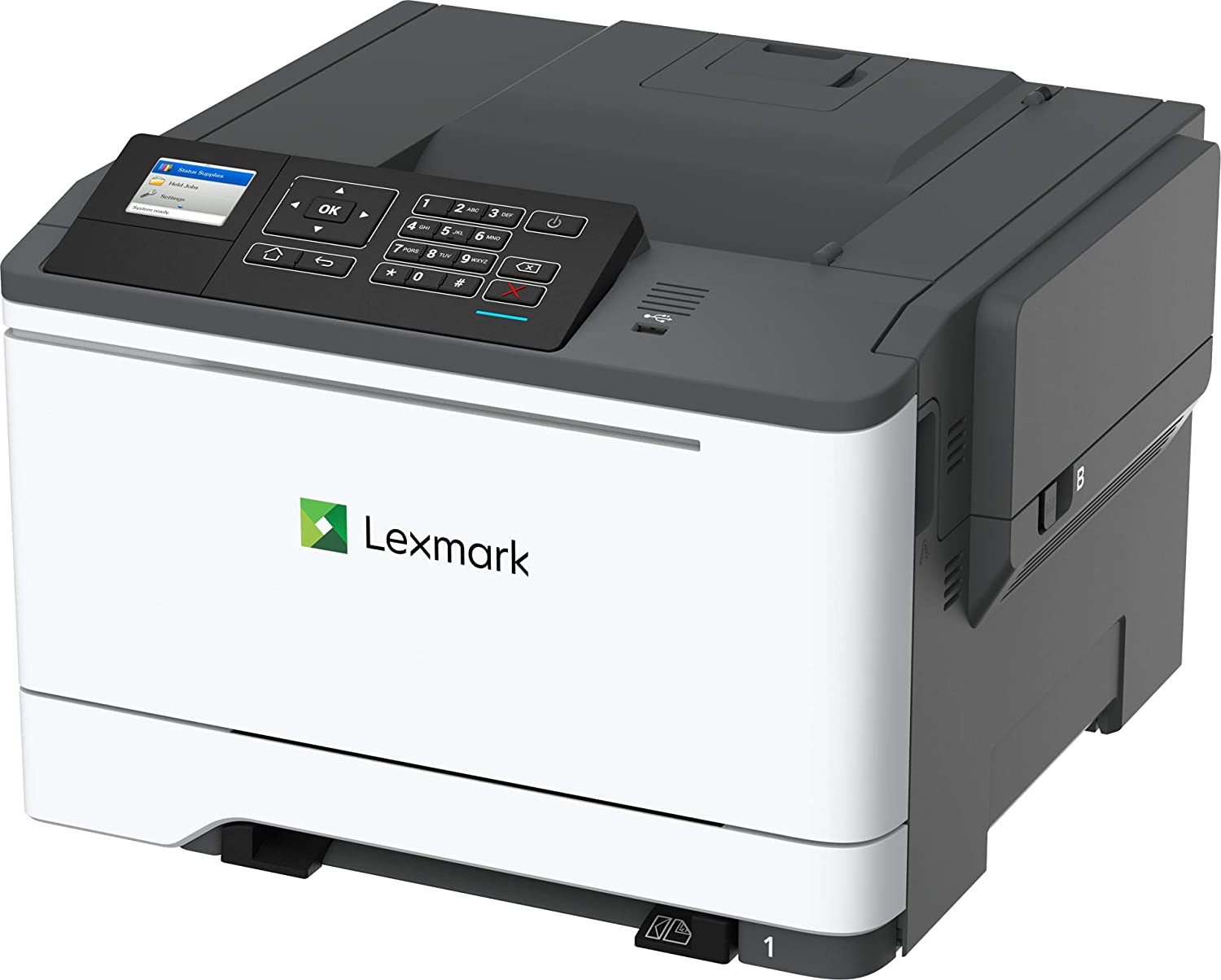 Lexmark C2535dw Color Laser Printer with Duplex Printing, Wireless Connection, and 35 ppm (42CC160), White/ Gray, Medium