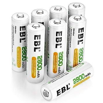 Amazon.com: EBL AA AAA batería/cargador de ...