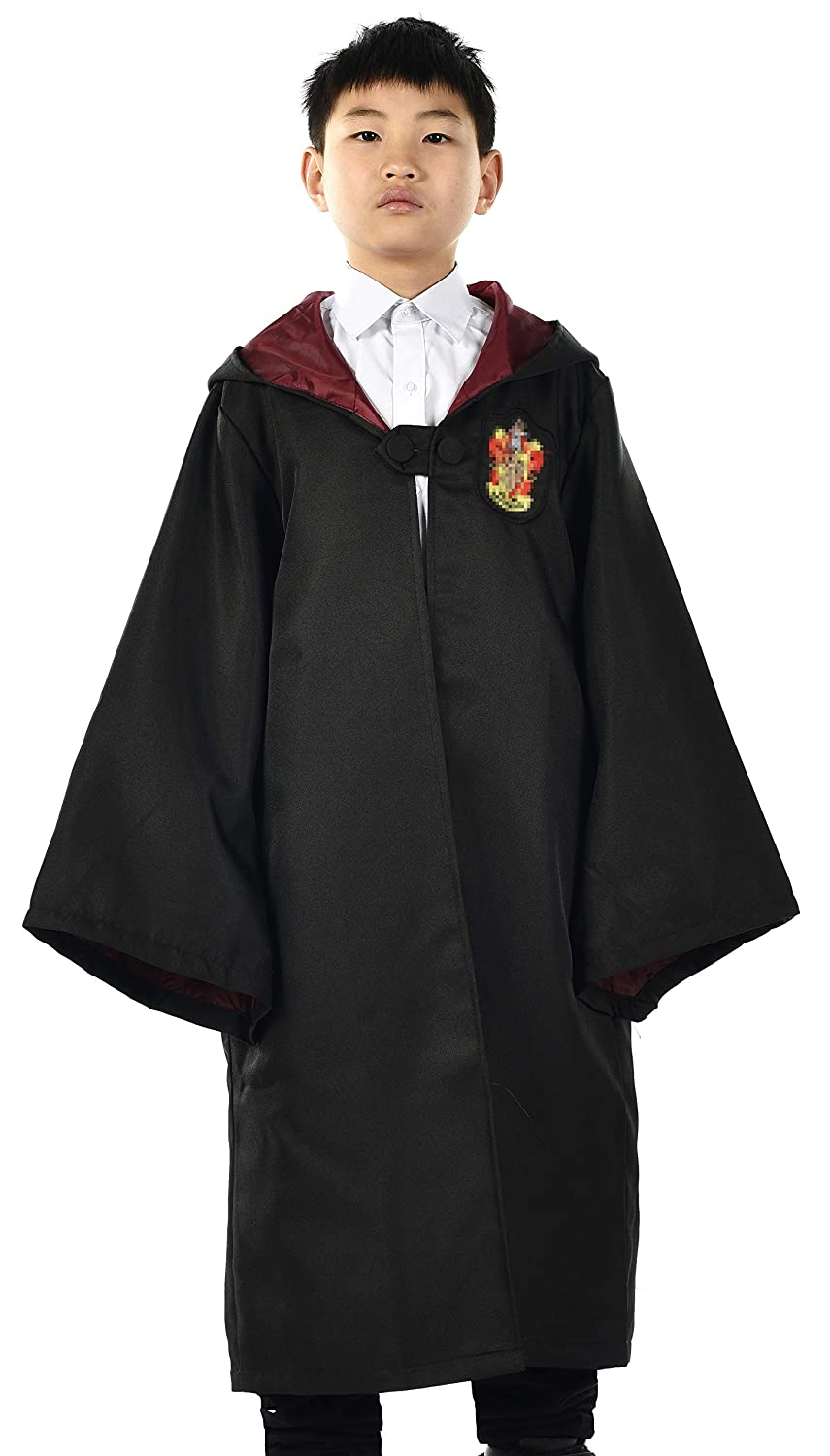 Miliano Embroidered Hooded Cloak Robe Cosplay Costume Kids//Audlt Size