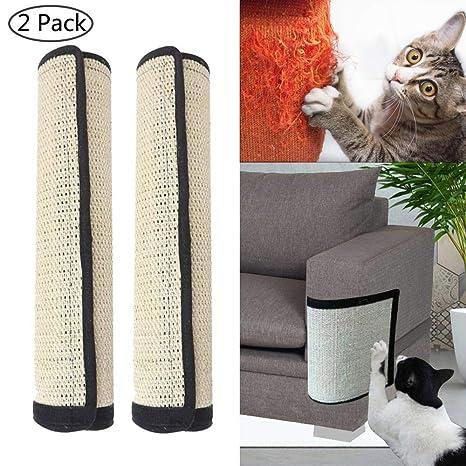 Womdee Protectores de Muebles de Mujer de Gatos rayados, 2 Unidades, 100% sisal Natural para Gatos, Muebles de Gato, Protectores de arañazos para ...