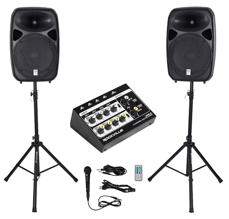 Musical Instruments Rockville RPG152K Dual 15 Powered Speakers ...