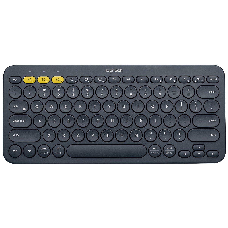 Logitech K380 79-Key Compact Multi-Device Wireless Bluetooth v3 Keyboard -  Gray (Renewed)