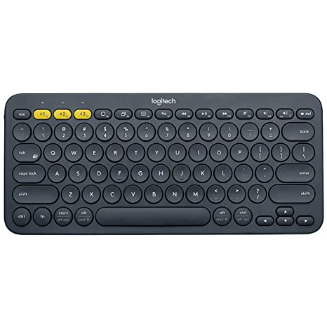 5a7d6fdc84f Amazon.com: Logitech K380 79-Key Compact Multi-Device Wireless Bluetooth v3  Keyboard - Gray (Renewed): Computers & Accessories