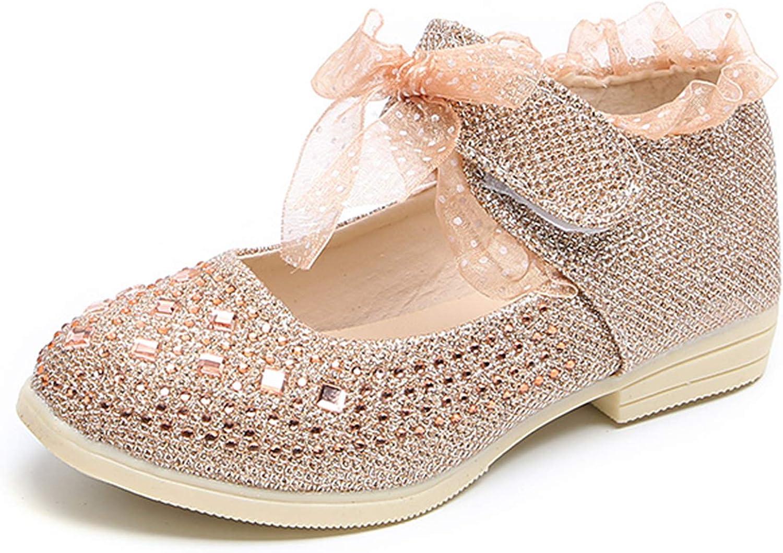 Komfyea Girls Princess Diamond Dress Shoes Baby Dance Shoes Toddlers//Little Kid