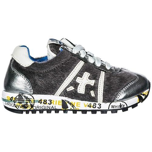 Premiata Zapatos Zapatillas de Deporte niña en Piel Plata: Amazon.es: Zapatos y complementos