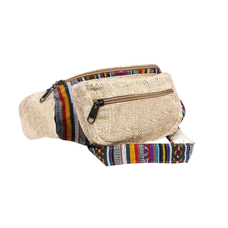 CoreHemp Fanny Pack Waist Hip Bag Handmade from Pure Hemp (Classic)