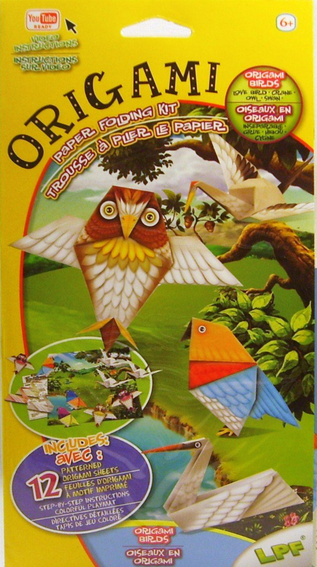 Origami Paper Folding Kit YouTube Ready Video Instructions Origami Birds LPF Puzzle