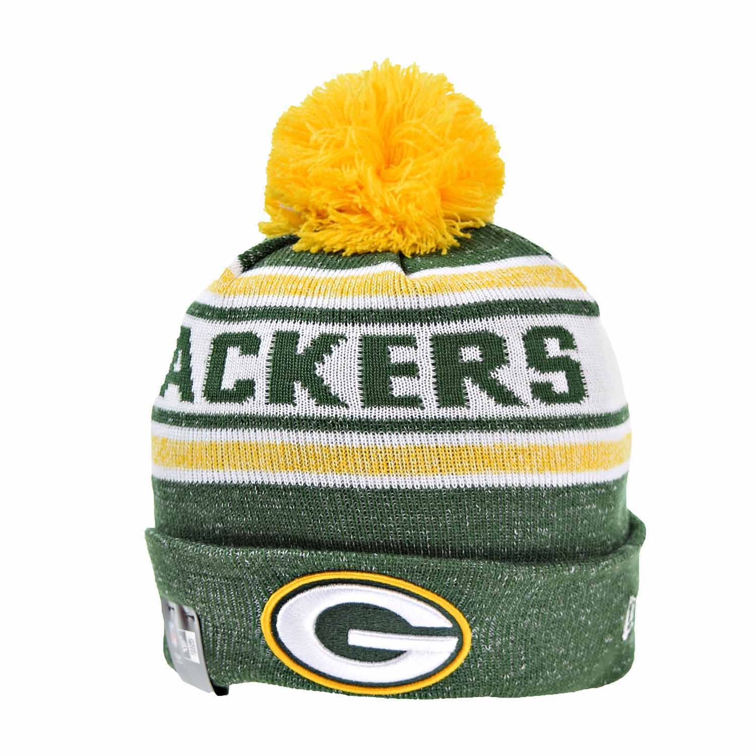Amazon.com  Green Bay Packers New Era Toasty Cover Pom Knit Beanie Hat    Cap  Sports   Outdoors 45822990dd1