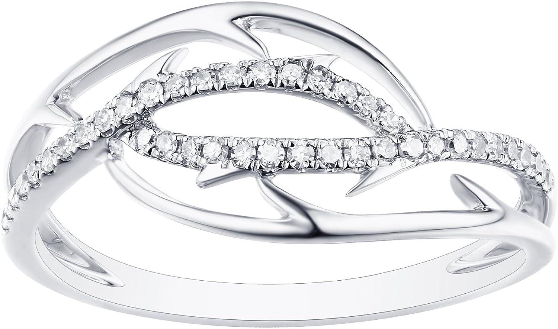 Prism Jewel 0.15 Carat G-H//I1 Natural Round Diamond Stylist Ring