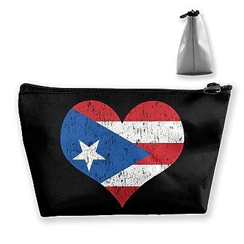 ba6c52aa0228 Amazon.com : Puerto Rican Flag Por Puerto Rico Portable Travel ...