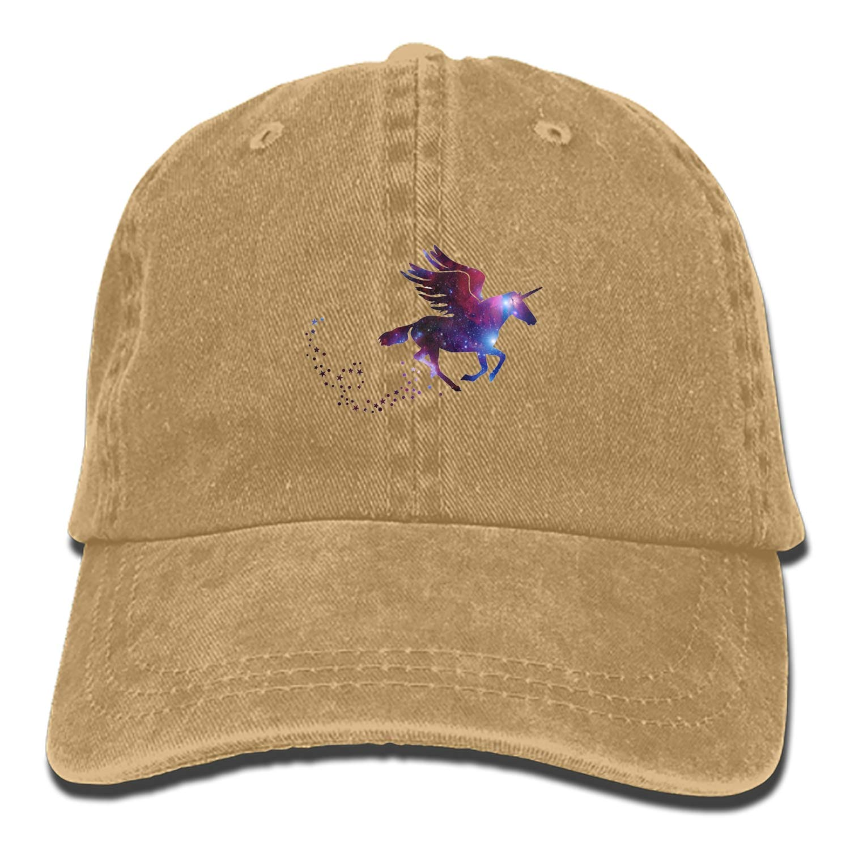 Custom Flying Unicorn Galaxy Classic Cotton Adjustable Baseball Cap Dad Trucker Snapback Hat