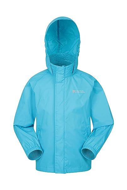 1b075083765a Mountain Warehouse Pakka Kids Waterproof Jacket - 2 Pockets Childrens Jacket