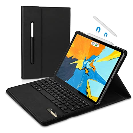 cheaper 660ed b5a74 iPad Pro 11 2018 Case with Keyboard, Vivefox Wireless iPad Keyboard + Folio  Smart Keyboard Case, with Pencil Holder, Auto Wake/Sleep Feature for Apple  ...