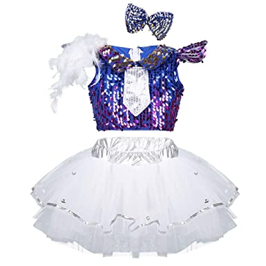 9c1c25a12ab4a CHICTRY Costume de Danse Latine Fille Gala de Danse Robe Danseuse Robe  Danse de Salon Rumba