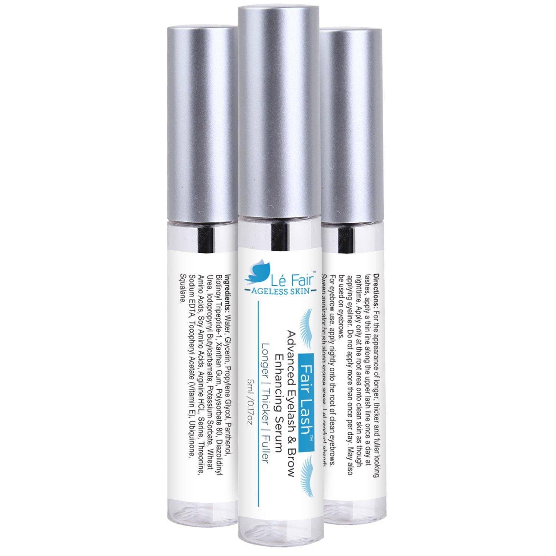 10e1f8bd98b Amazon.com: Le Fair Advanced Eyelash & Eyebrow Enhancing Serum - Fair Lash  Natural Treatment Gel for Longer Thicker Fuller Lashes & Brow Enhancer -  Better ...