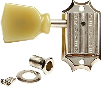 Grover Deluxe SINGLE Tuning Machine key bass side nickel for Gibson Guitars