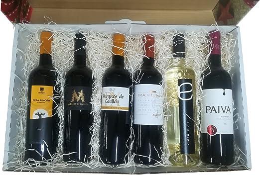 Cesta original para regalar con vinos de Ribera del Guadiana: Amazon.es: Alimentación y bebidas