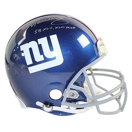 Eli Manning Signed Authentic Full Size Giants Helmet w SB XLII MVP SB XLVI  MVP bc7226381