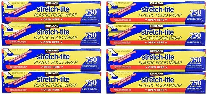 Kirkland Signature Stretch Tite Plastic Food Wrap 11 7/8 Inch X 750 SQ. FT. (2 Pack)