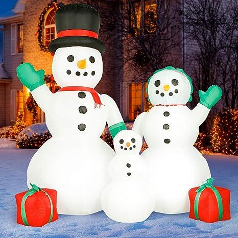 Amazon.com: Holidayana - Muñeco de nieve inflable de Navidad ...