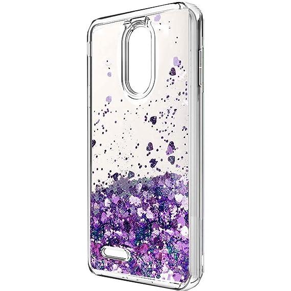new products 1a63a 1f785 LG Aristo 2 Case, LG K8 2018 Case, LG Tribute Dynasty Case,X210 case, LV3  2018 Case, Skmy Liquid Glitter Sparkle Girl Women Cute Clear TPU+Shockproof  ...