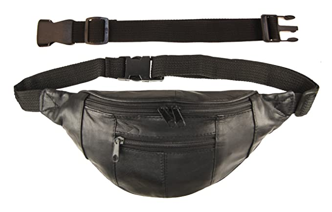 d218e9dcdb86 AG Wallets Genuine Leather Joggers Fanny Pack with 18