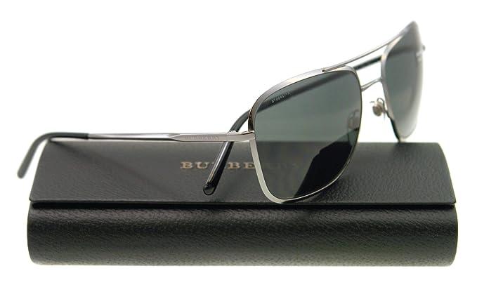 fb3ba1c1b653 Amazon.com: Burberry BE3075 Sunglasses-100387 Gunmetal (Gray Lens)-59mm:  Clothing