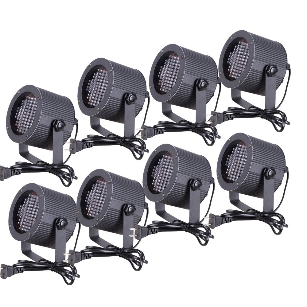 CO-Z 8pcs DMX Controlled LED Stage Lights, 86 RGB Sound Activated Par Stage Effect Lighting for DJ Home Party Festival Bar Club Wedding Church Uplighting