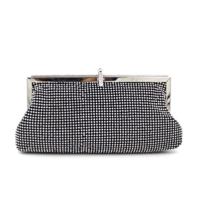 WILLTOP Glitter Beaded Magnet Clasp Cut Out Chain Clutch Evening Bag with  Chain: Amazon.co.uk: Shoes & Bags